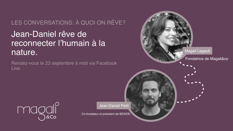 Jean-Daniel Petit 23 septembre: Reconnecter l'humain à la nature